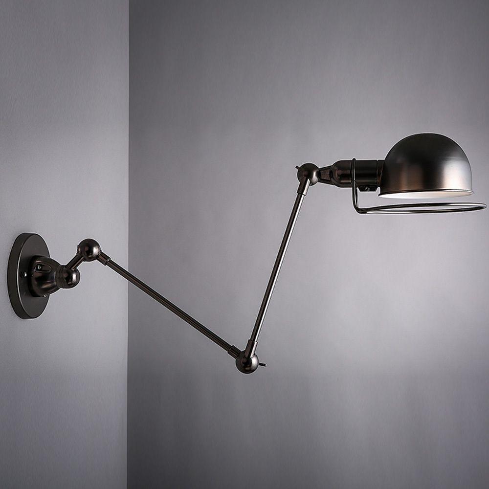 Art Decorative Swing Arm Light Black Golden Nordic Vintage Loft Wall Lamp Sconce Aisle Bar Cafe Shop Arandela Task Lighting E27 In Wal Lamp Wall Lamp Loft Wall
