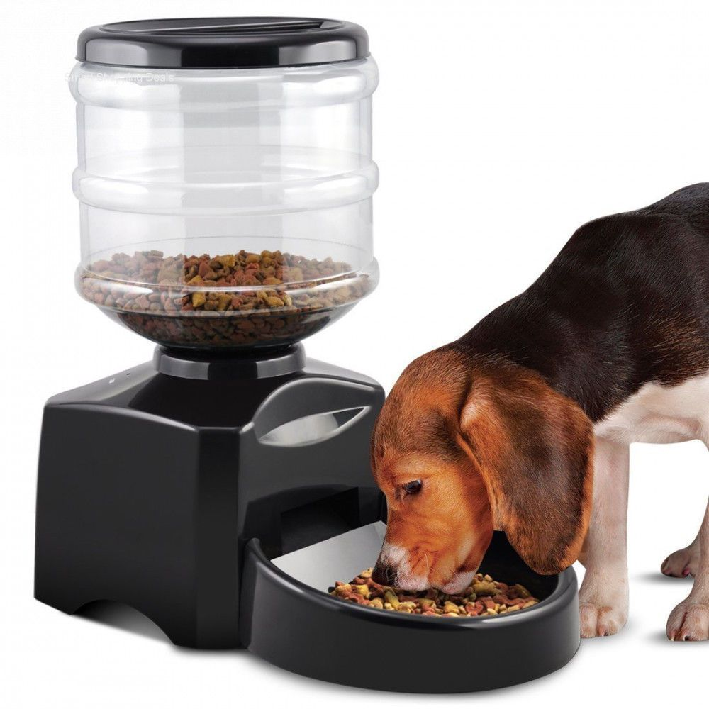 Large Automatic Pet Feeder Dogs Feeder Electric Dry Food Container