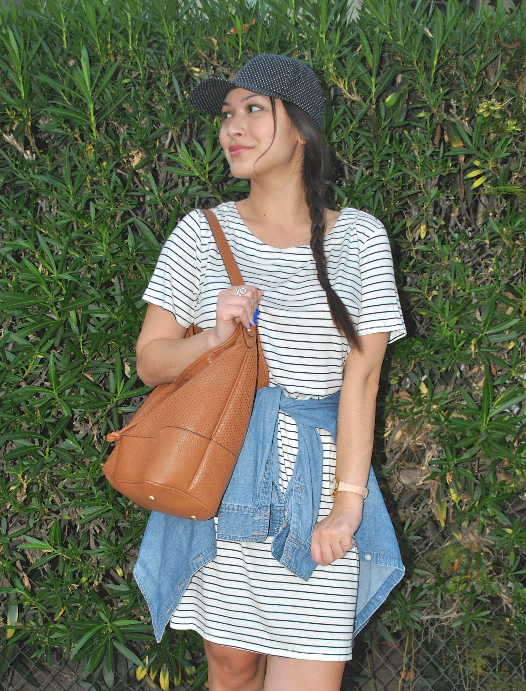 1216d1c13ea Striped shift dress