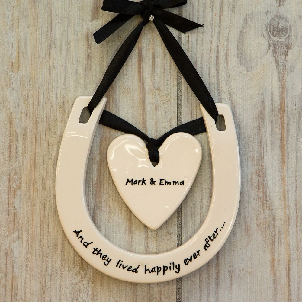Horseshoe Wedding Gift: Horseshoe Heart Horseshoe With Heart