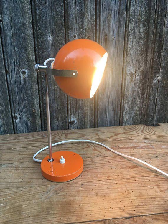 Thqsrdoxcb Orange Vintage Lampe 7yf6gb De Chevet tQshdr