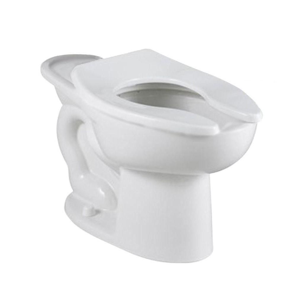 American Standard Madera Flowise 1 1 Gpf 1 6 Gpf Elongated Flush Valve Toilet Bowl Only In White With 16 1 2 In High Back Spud Toilet Bowl American Standard Toilet