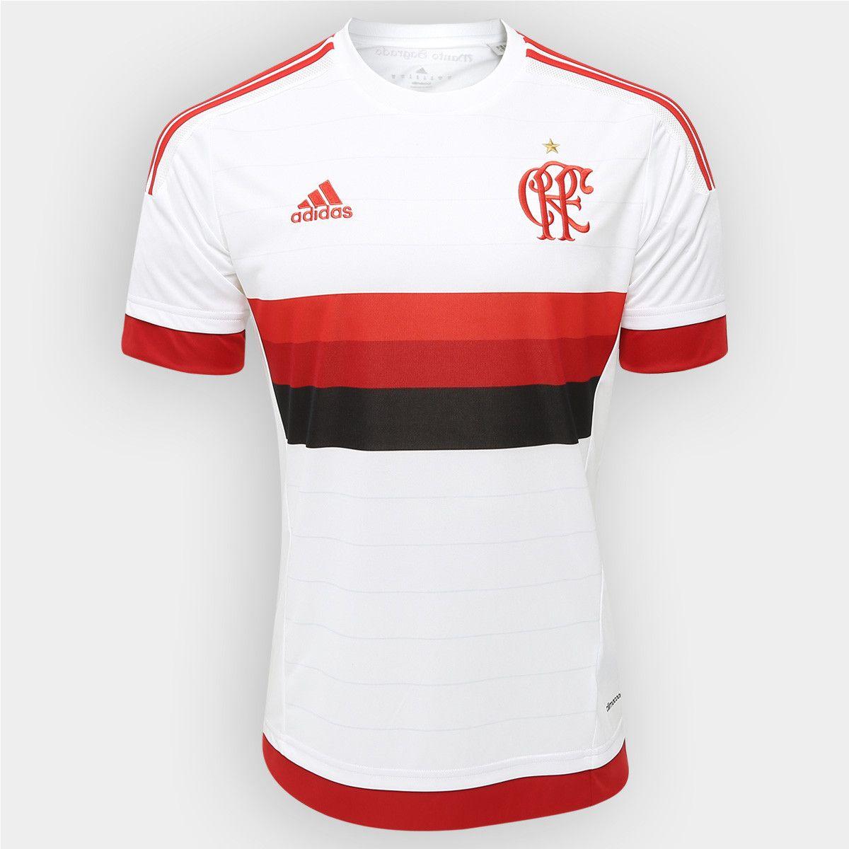 532ba6d4af2 Camisa Adidas Flamengo II 15 16 s nº Branco e Vermelho