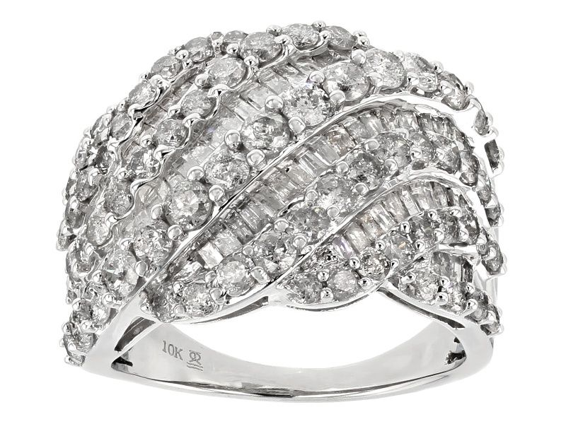 White Diamond 10k White Gold Ring 3 00ctw Cdg150 White Gold Rings Right Hand Rings White Gold