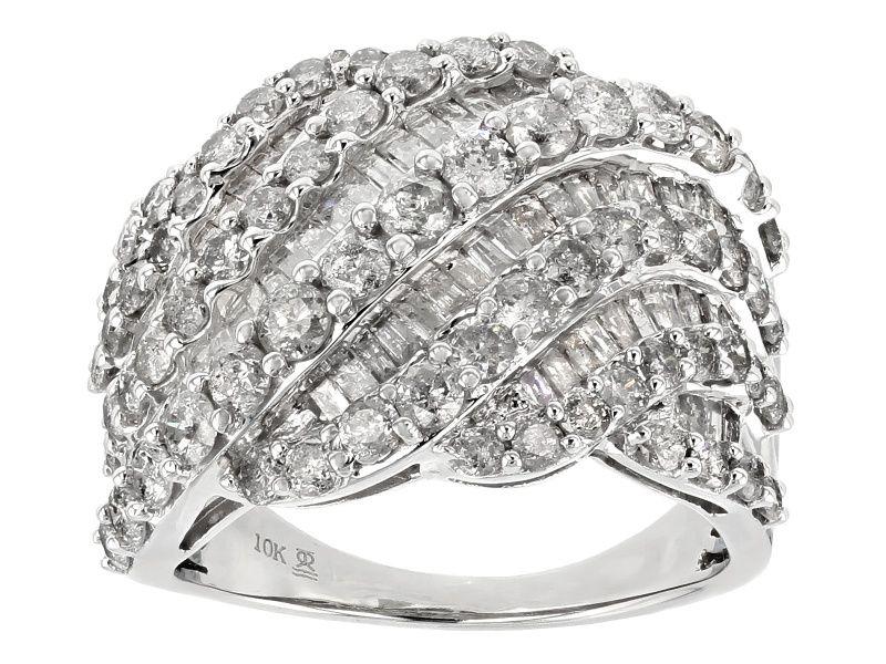 White Diamond 10k White Gold Ring 3 00ctw Cdg150 White Gold Rings Right Hand Rings White Gold