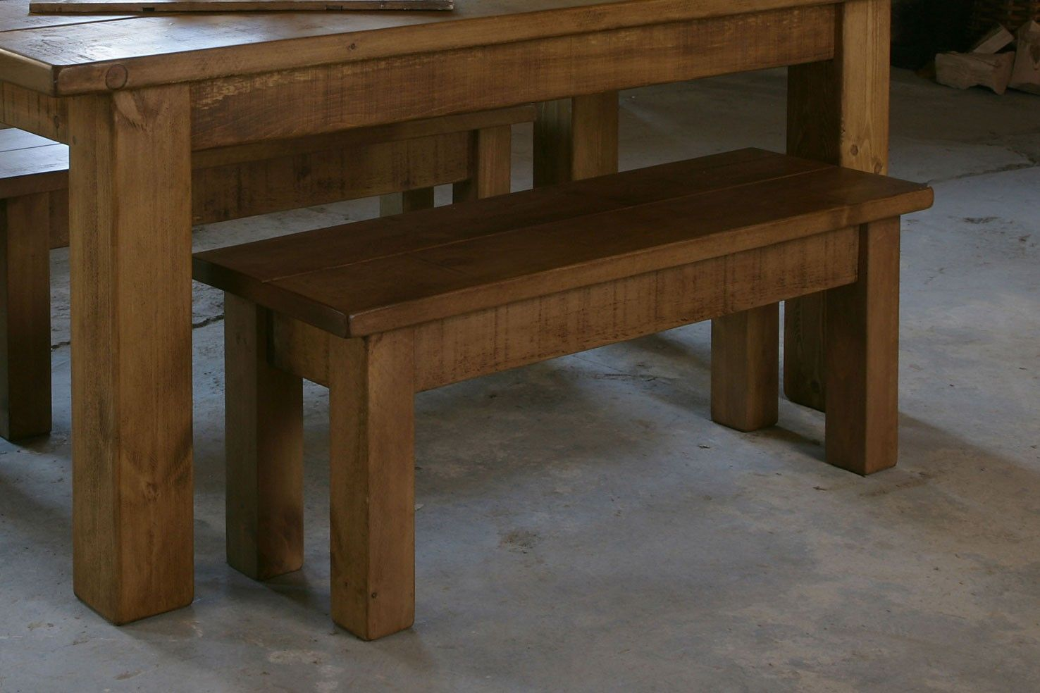 Miller's Plank Bench Pine dining table, Table and bench
