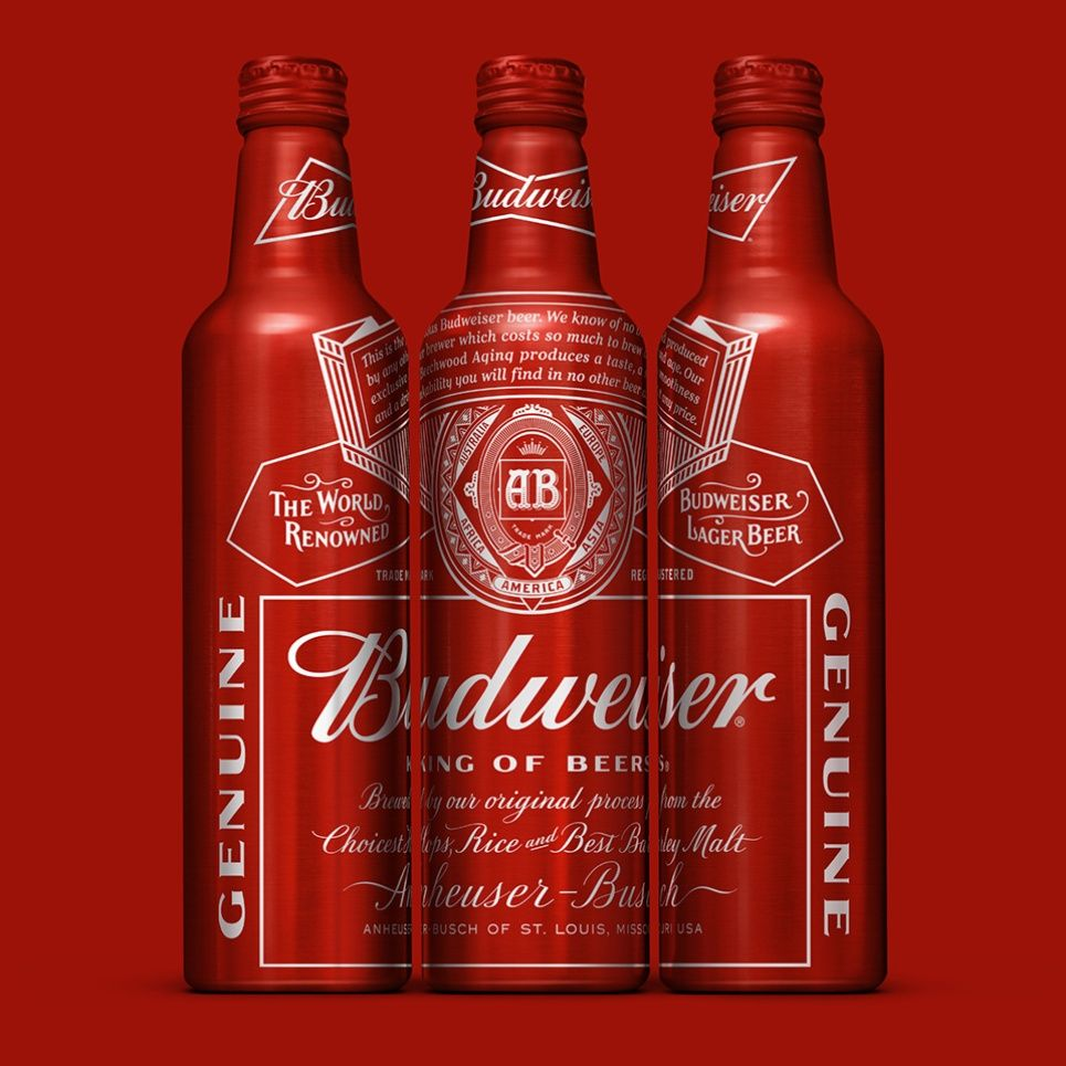 Budweiser Aluminum Bottle Aluminum Bottle Budweiser Bottle