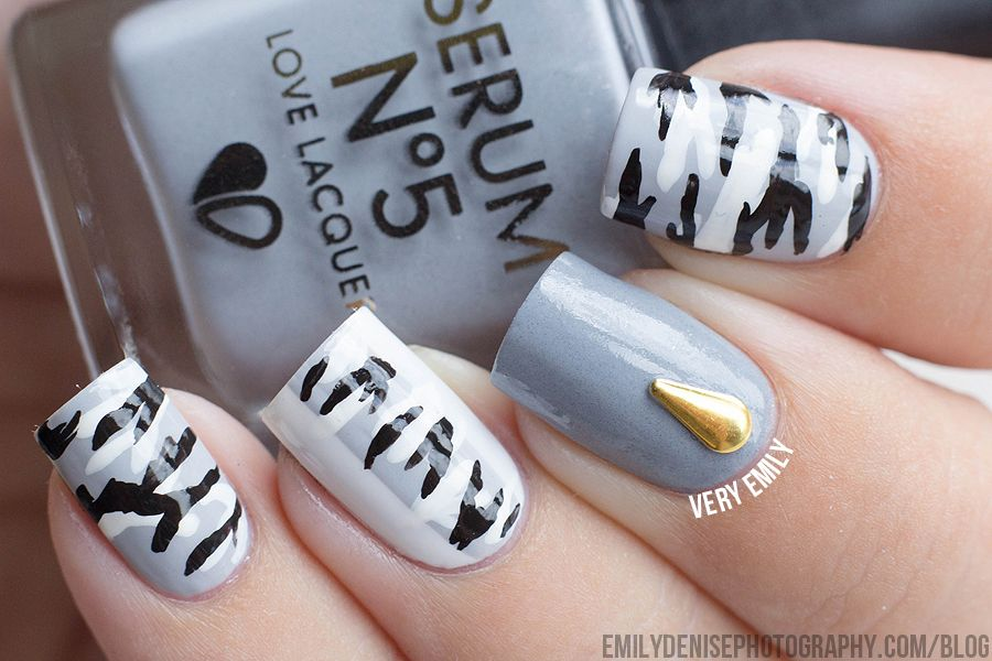 B/W Camouflage Nails - B/W Camouflage Nails Uni Pinterest Camouflage Nails, Camo