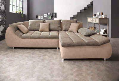 benformato city polsterecke, wahlweise mit bettfunktion #couch ... - Wohnzimmer Sofa