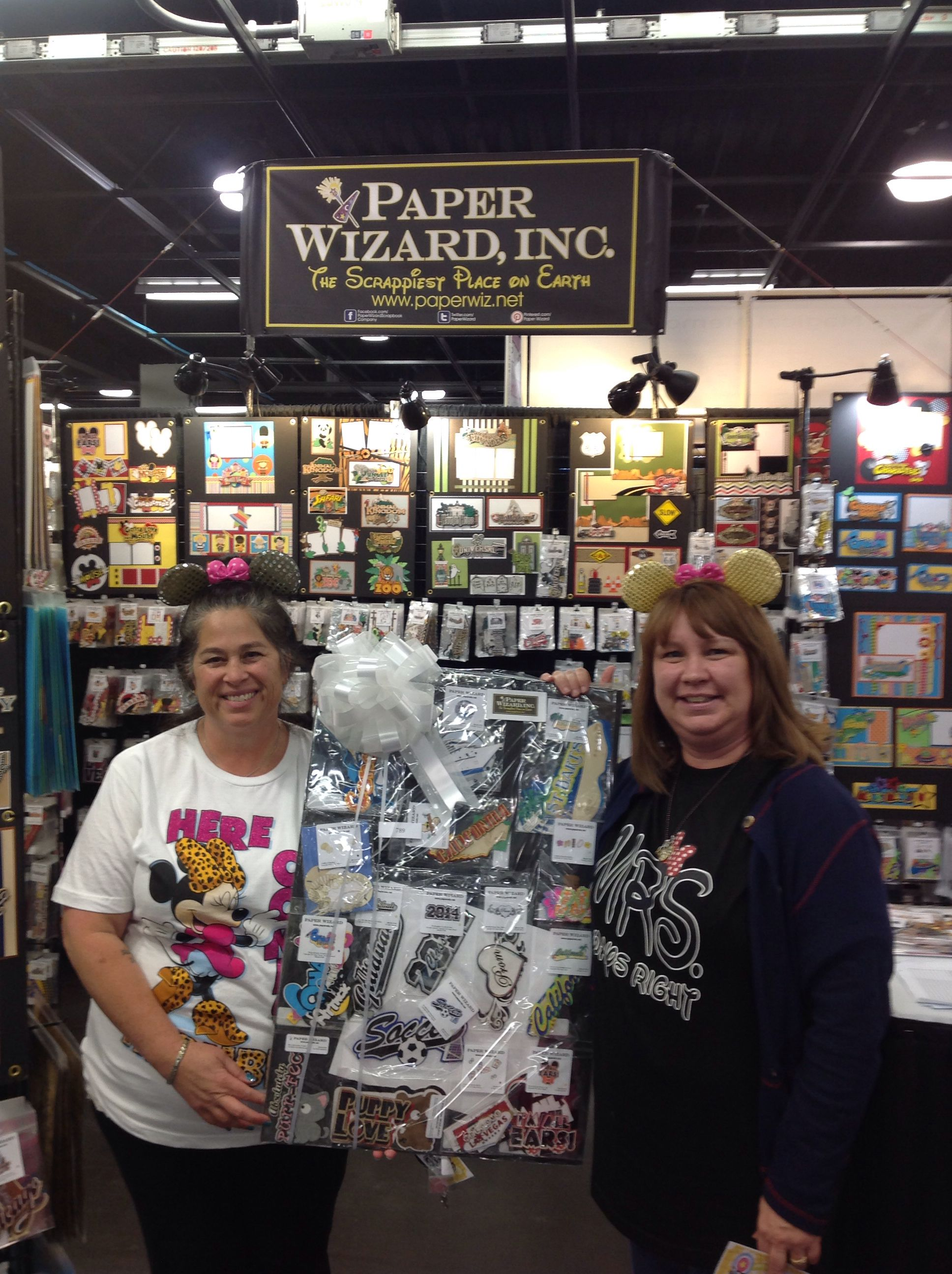 Paper Wizard Prize Winners Dawn Jack And Patsy Ashcroft At The 2014