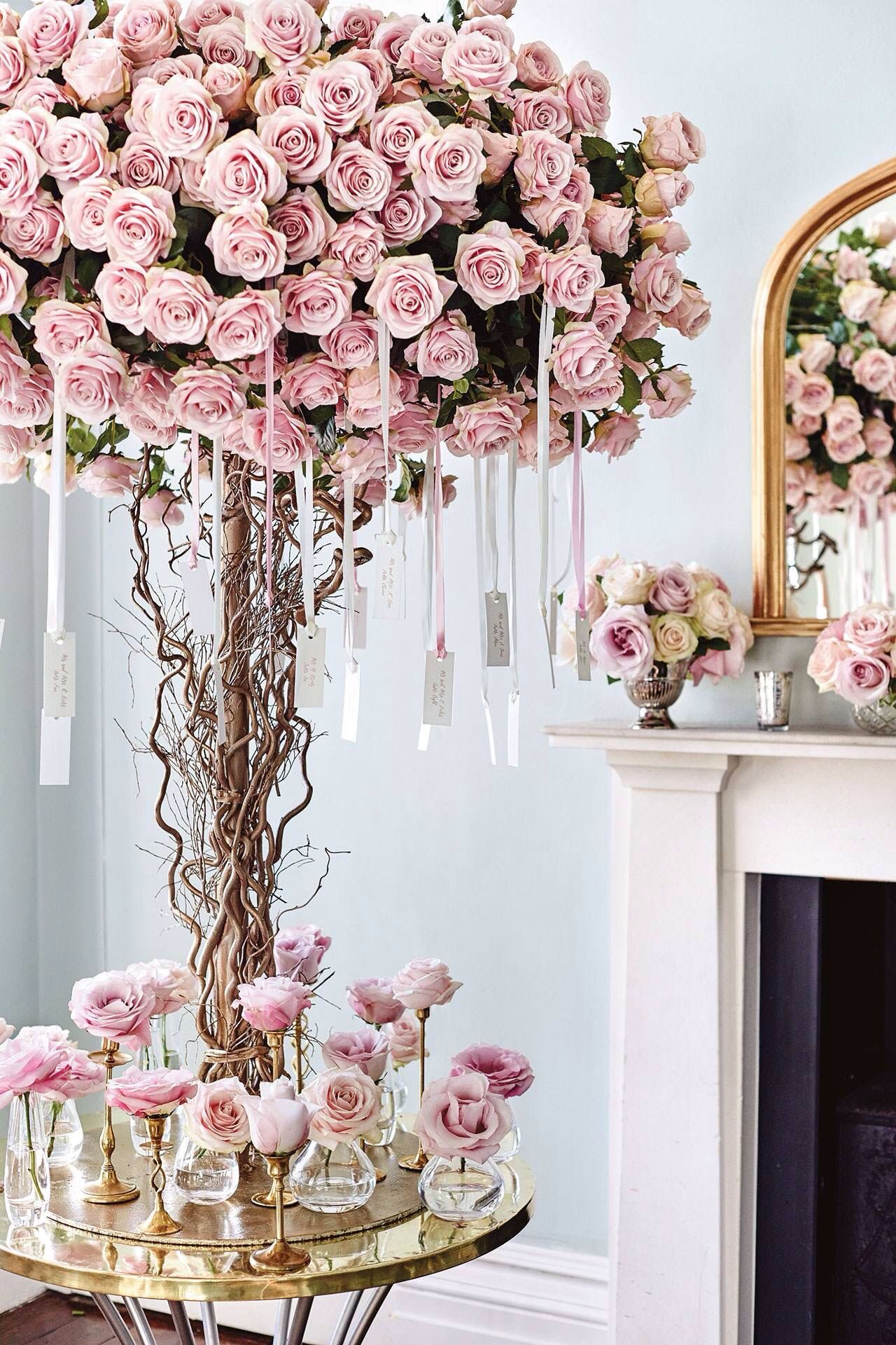 How stunning is this tree of blush pink roses !!! | Wedding: Wedding ...