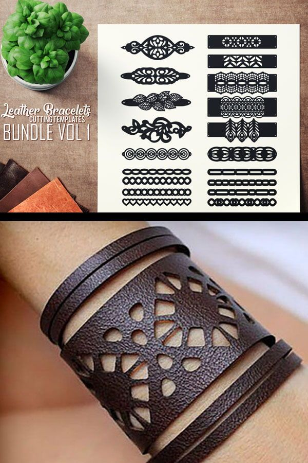 Photo of Leather Bracelets SVG – VOL I BUNDLE – Cutting Templates By SharpSVG | TheHungryJPEG.com