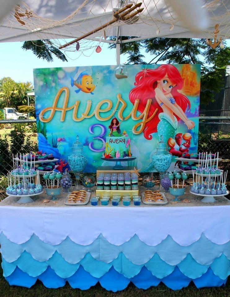 The Little Mermaid Birthday Party Decorations A Pequena Sereia Ariel Festa In Mermaid Birthday Party Decorations Ariel Birthday Party Mermaid Party Decorations