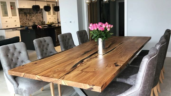 Photo of Large English Oak Dining Table by Earthy Timber UK