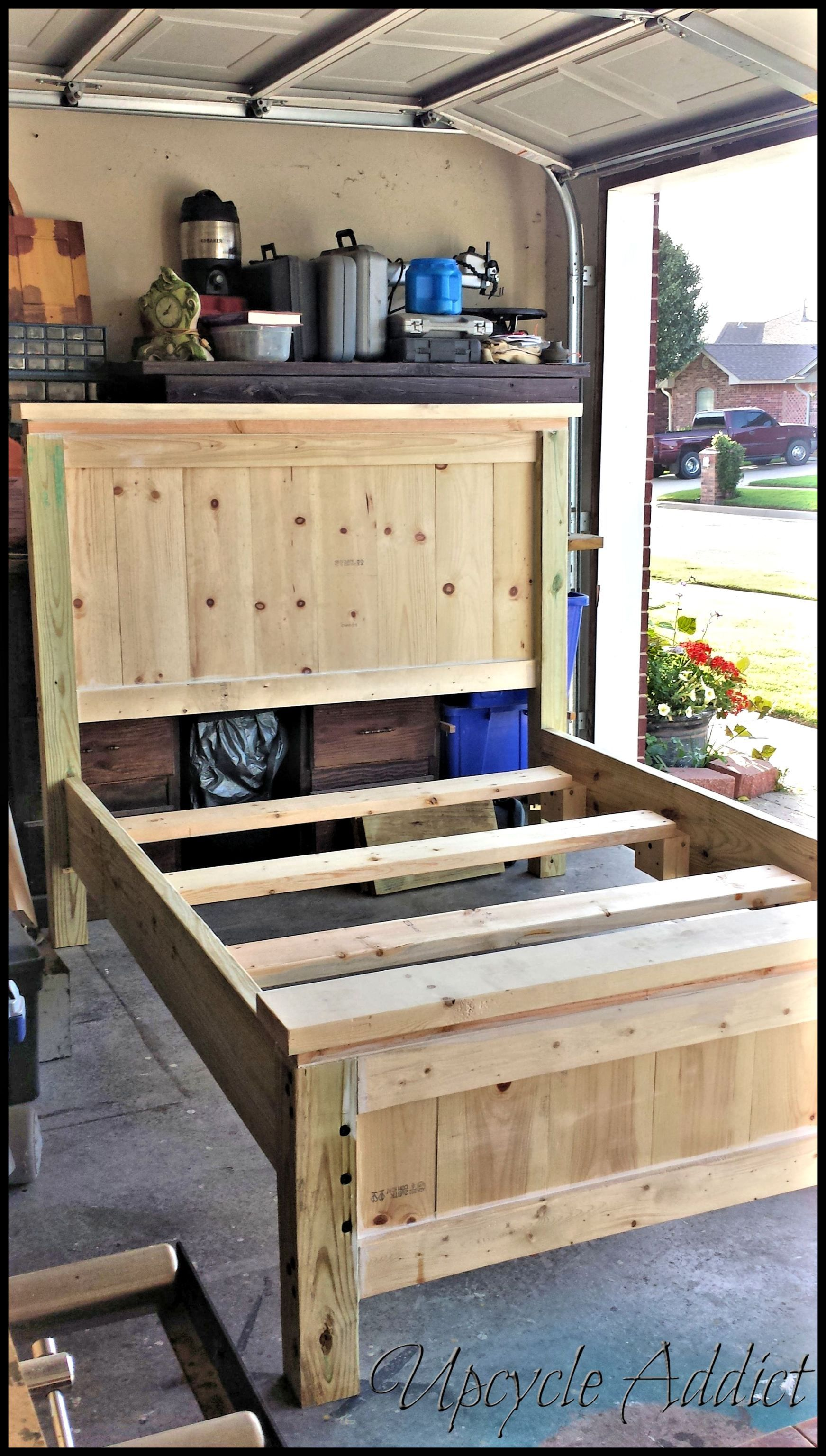 Farmhouse Bed (Full Size) Diy bed frame, Home, Diy furniture