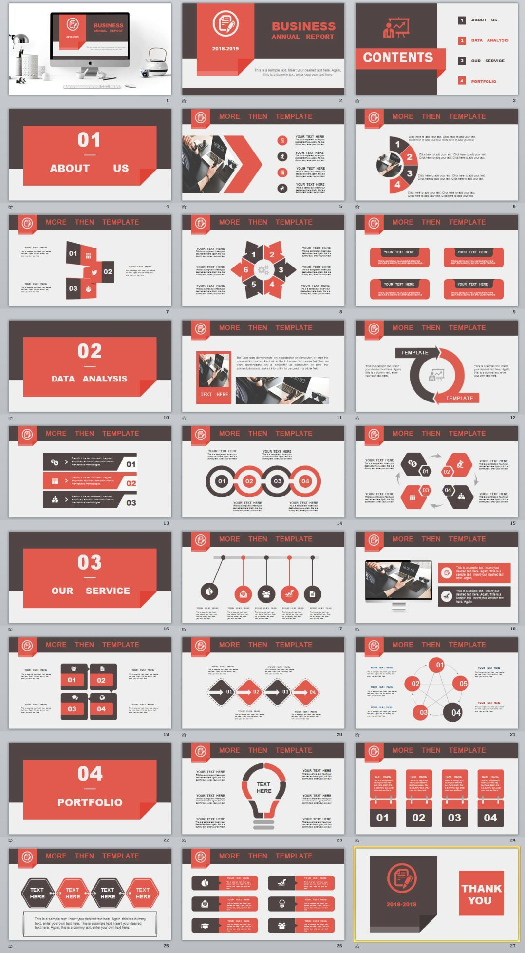 27+ Business company report PowerPoint template