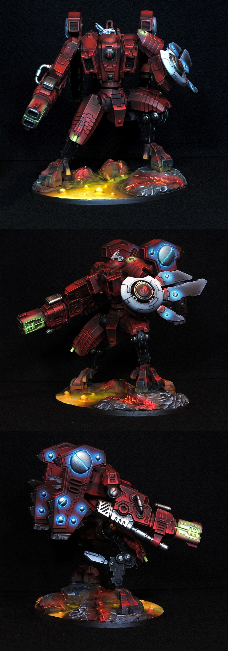 subdued lighting. Warhammer 40k Tau Riptide - Incredible Subdued Lighting On This One