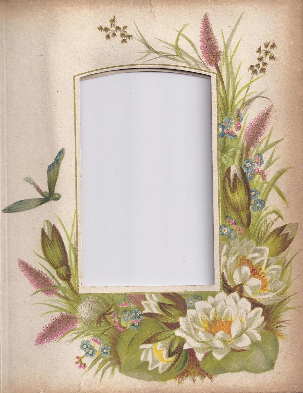 Victorian Photo Album Floral Frame ~ Zibi Vintage Scrap ...