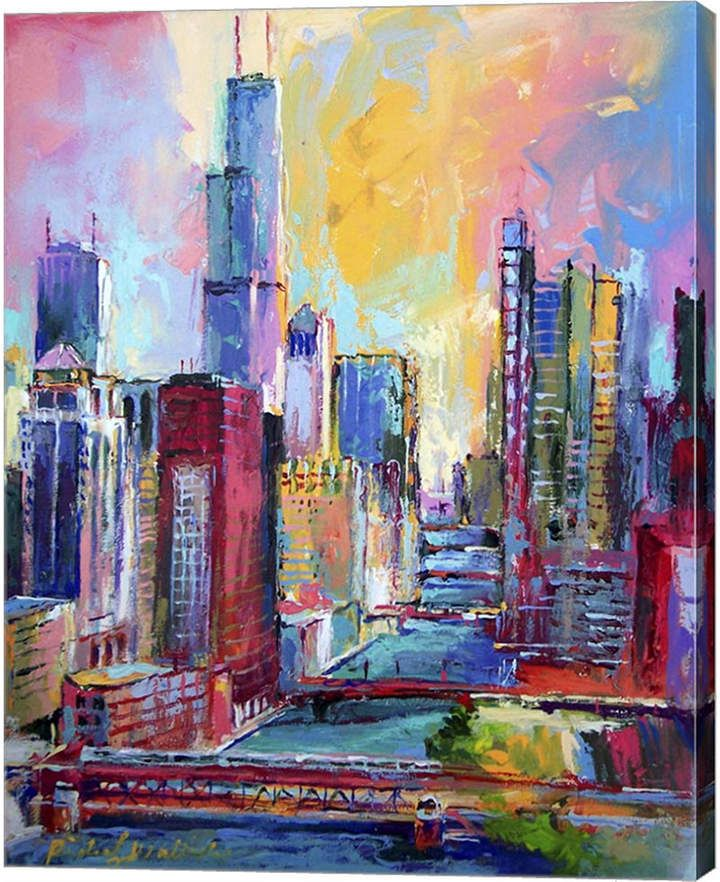 Metaverse Chicago 3 By Richard Wallich Canvas Art Pinturas