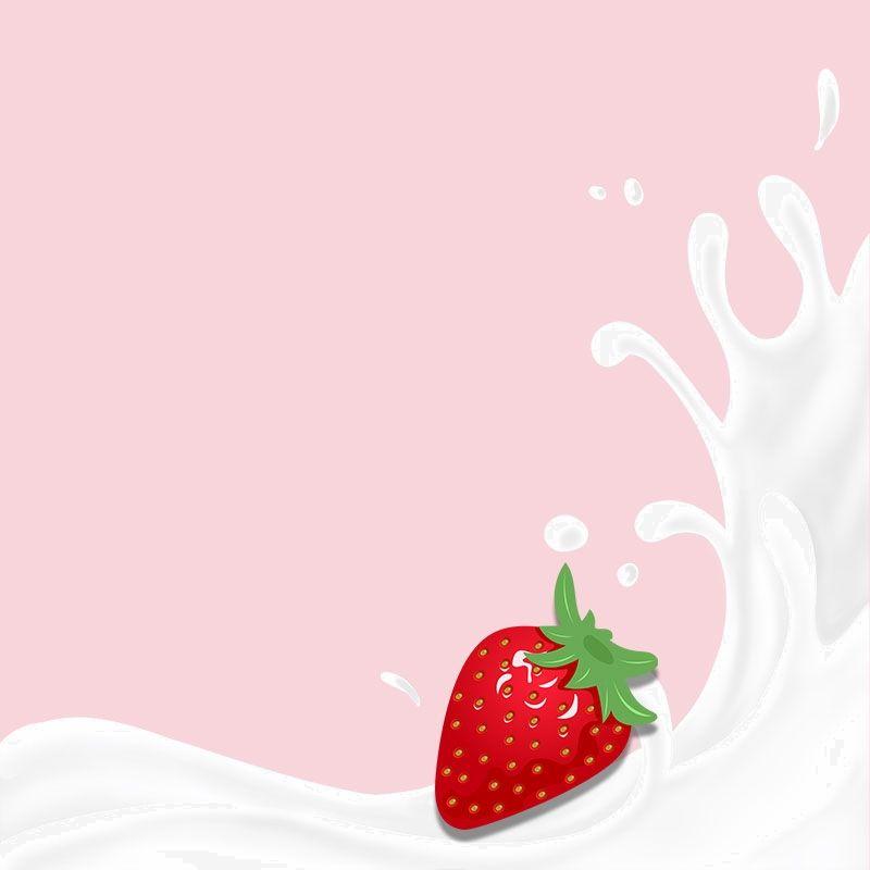 Pink Strawberry Milk Drink Psd Layered Main Picture Background Material Strawberry Milk Strawberry Strawberry Background