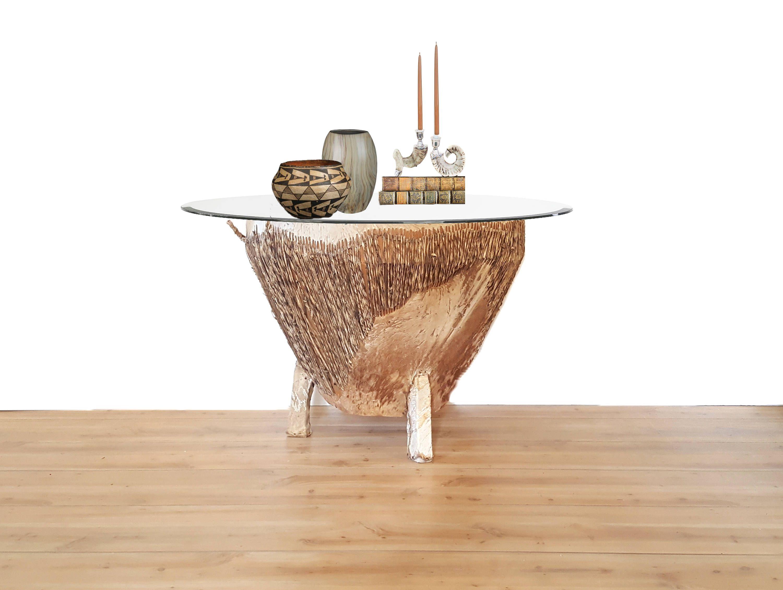Huge Tribal Drum Table Vintage Cowhide Drum Coffee Table End