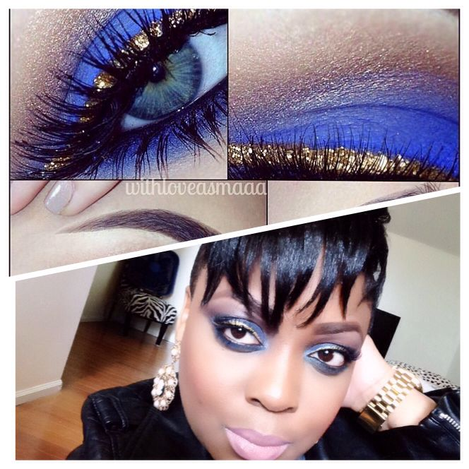 New Blue Smokey Eye Makeup Tutorial On The Color Me Pynk Youtube Channel Cute Makeup Looks Blue Smokey Eye Smokey Eye Makeup
