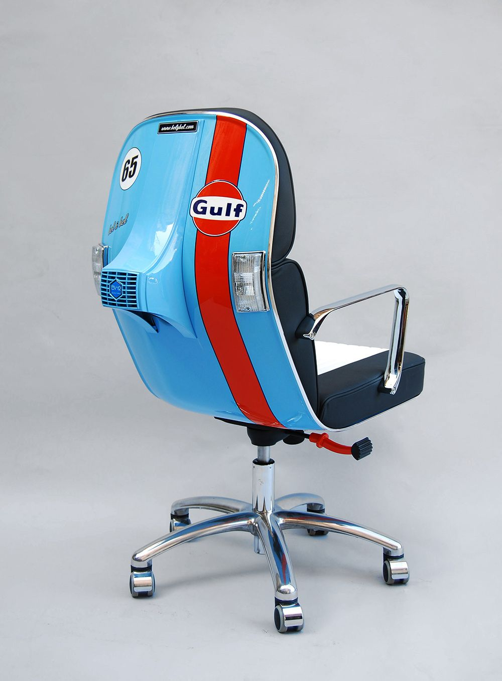 recycled vespa office chairs. Vintage Vespa Parts Recontextualized As Sleek Modern Office Furniture Recycled Chairs Pinterest