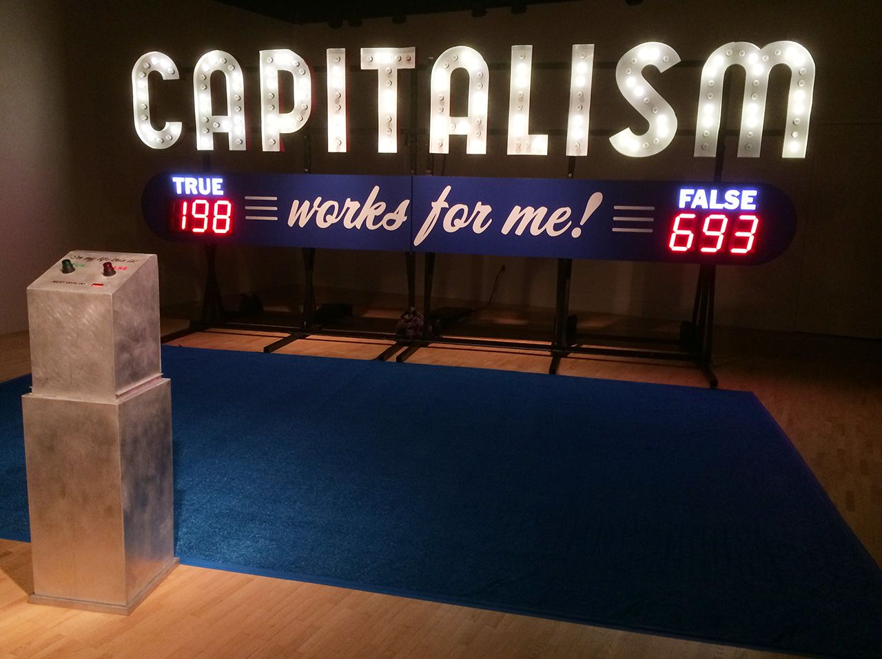Steve Lambert - Capitalism works for me Yes/No