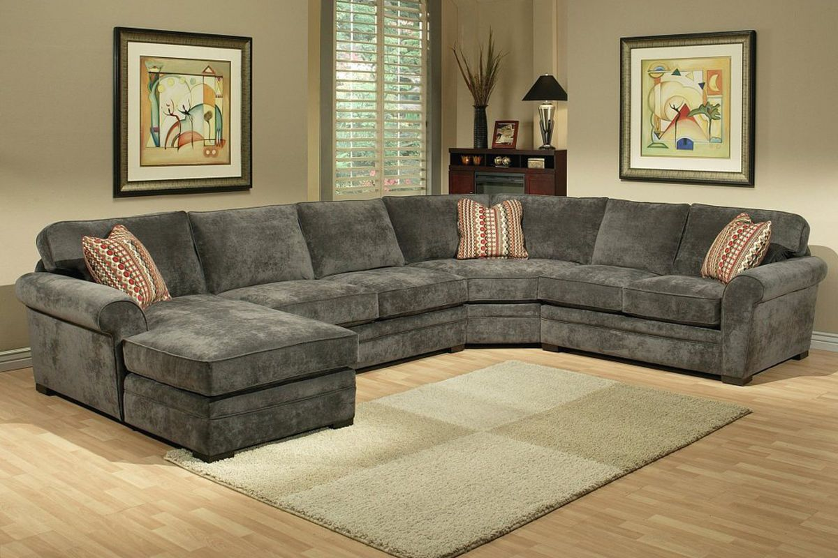 Gypsy Four Piece Left Arm Sectional Furniture White