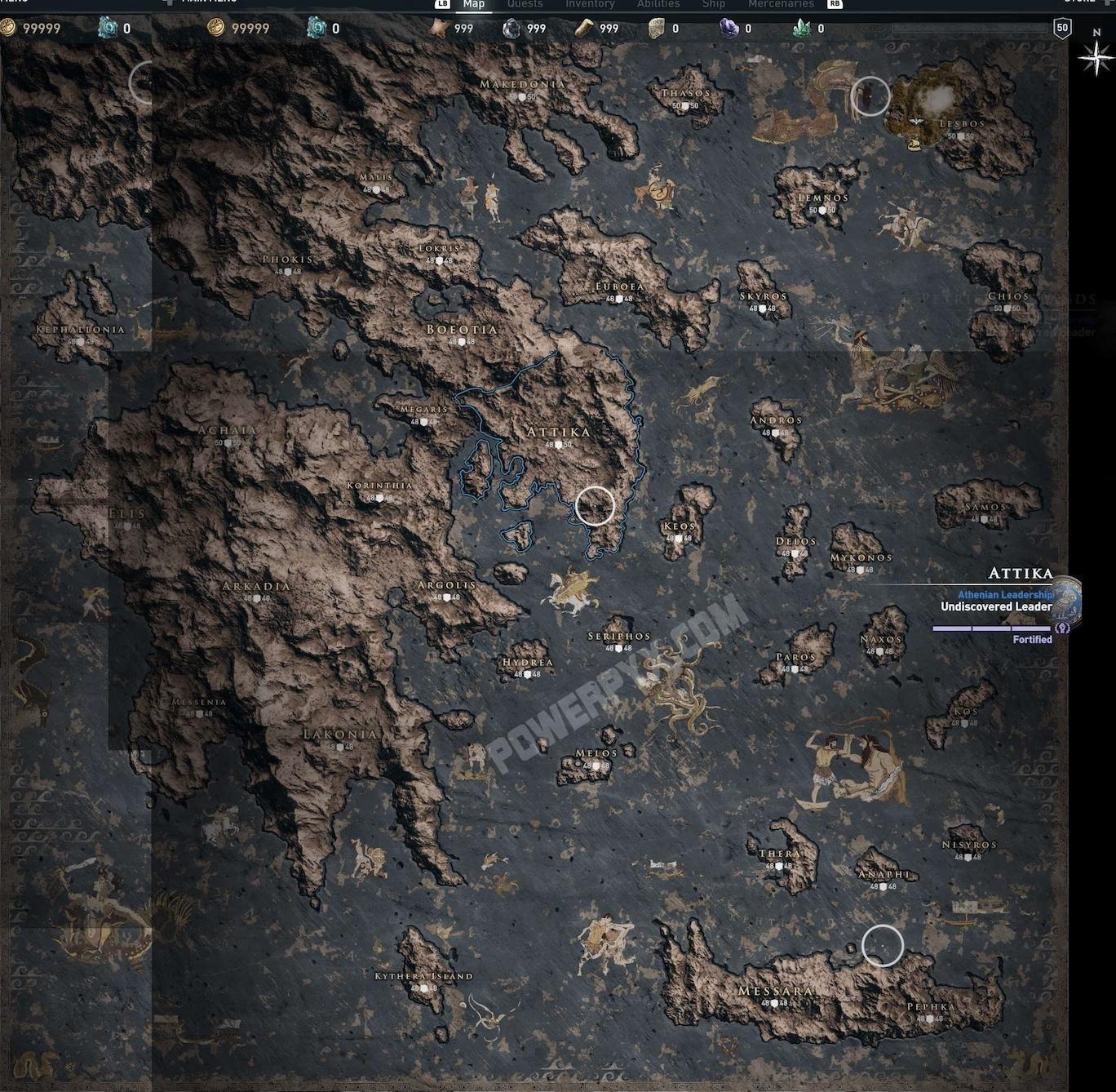 Assassins Creed Odyssey Map Assassins Creed Odyssey Assassins