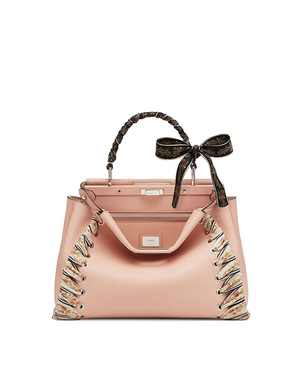 ac89a06d06 Amazon.com: Fendi Women's 8Bn2909fzf09cr Pink Leather Handbag: Clothing