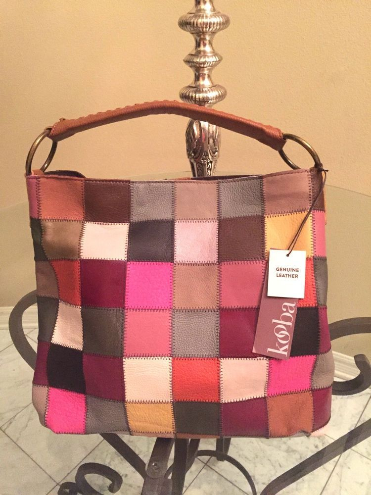916f1b25cd KOOBA Patchwork Suede Hobo Bag Multi Color Purse Handbag NEW  Kooba  Hobo  new