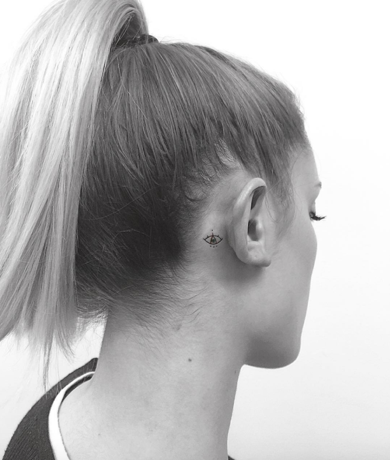 11 BehindtheEar Tattoos That Are Too Cute to Hide (With