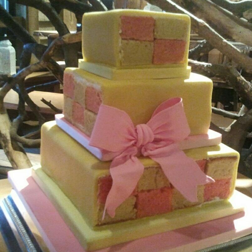 Battenburg Wedding Cupcakes Brides Cake Wedding Cake Toppers