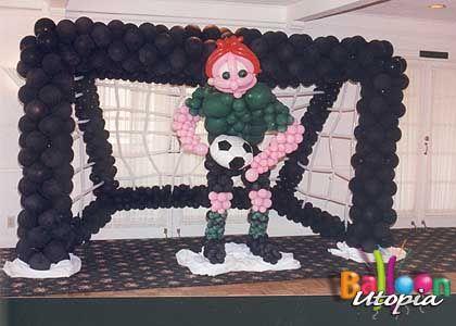 Soccer balloon sculpture soccer party pinterest sport theme san diego sports theme decor by balloon utopia junglespirit Choice Image