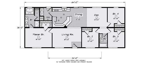 Modular home basement floor plans home design and style for Modular homes with basement floor plans