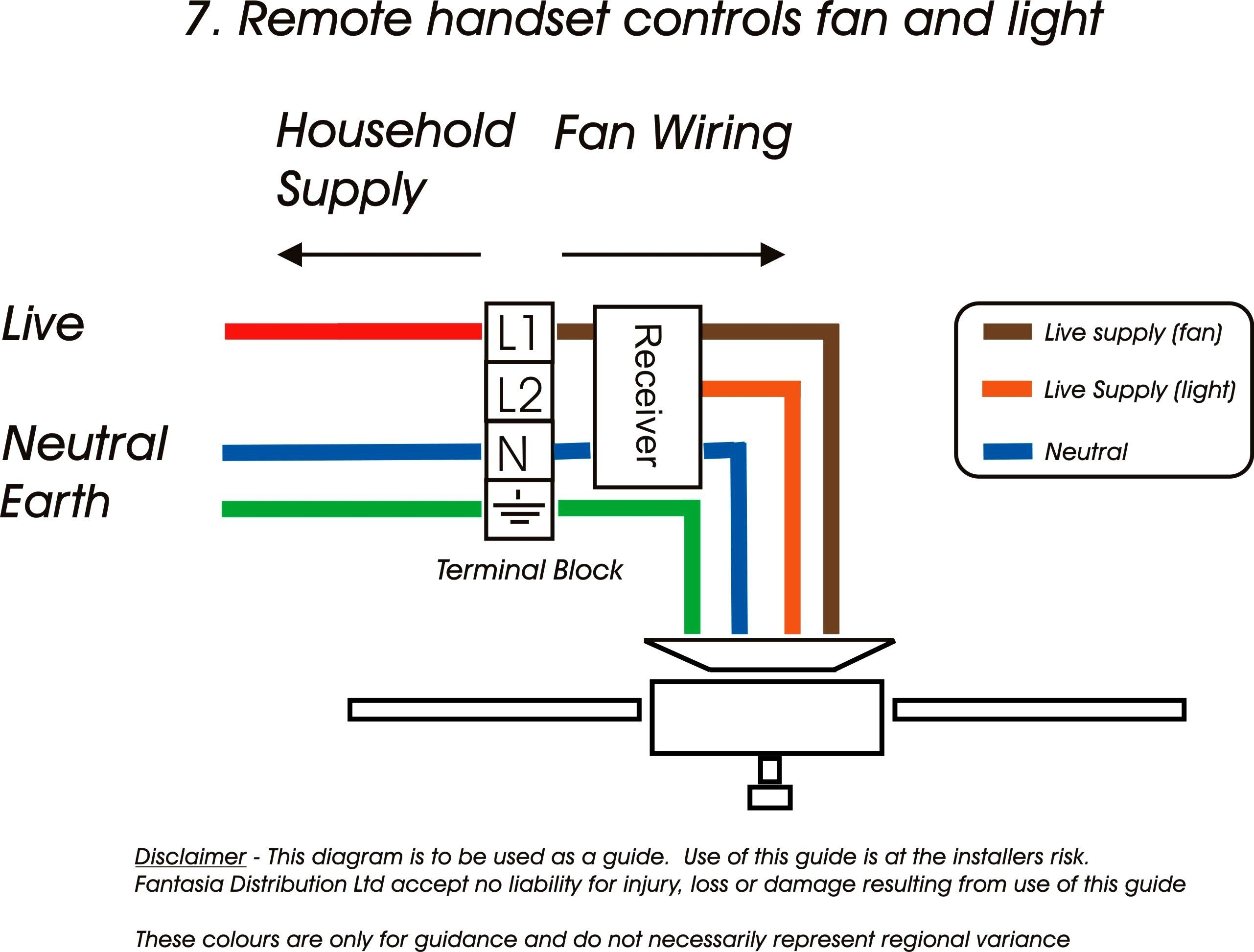 Ceiling Fan Electrical Wiring With Remote