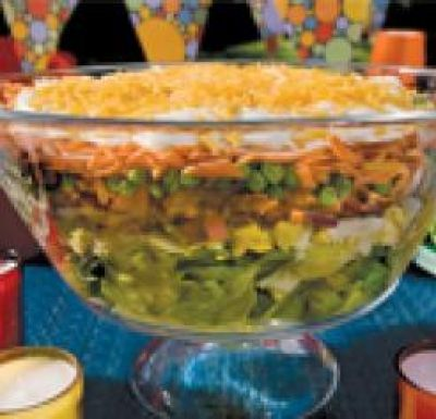 Seven Layer Salad Louisiana Cookin Seven Layer Salad Layered Salad Louisiana Recipes