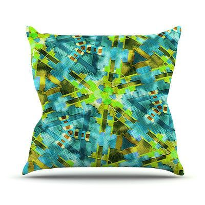 """KESS InHouse Pollenesia by Michael Sussna Throw Pillow Size: 18"""" H x 18"""" W x 3"""" D"""