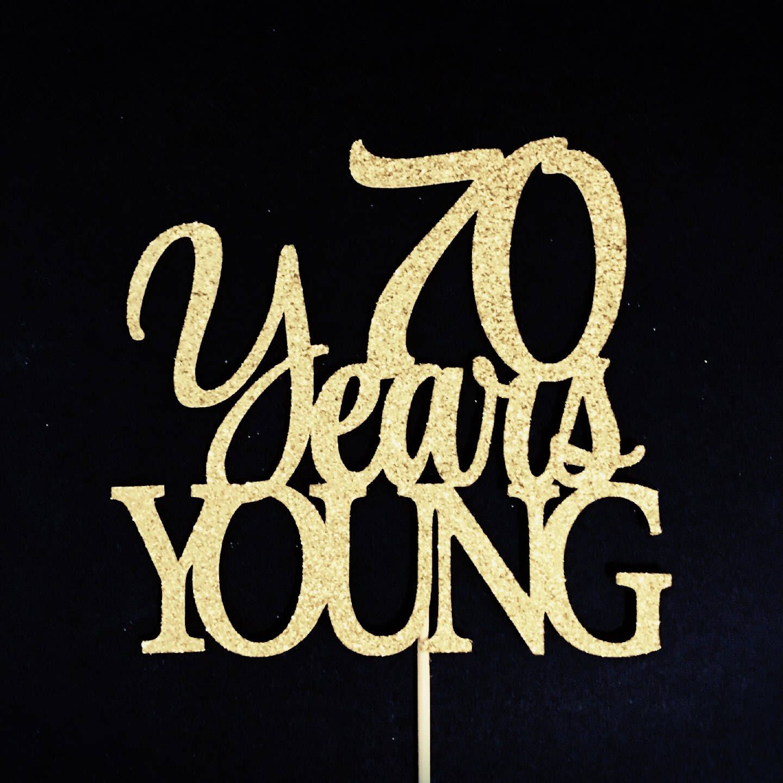Birthday Cake Topper 70th Cake Topper Numbered Birthday 70th Birthday Party Decor Custom Glitter Cake Topper Seventy Cake Topper