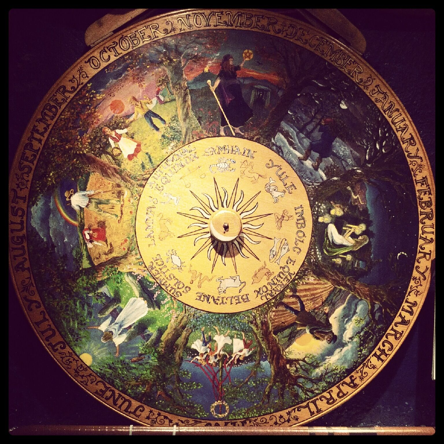 Pagan/Wiccan Wheel of the Year at The Museum of Witchcraft in ...