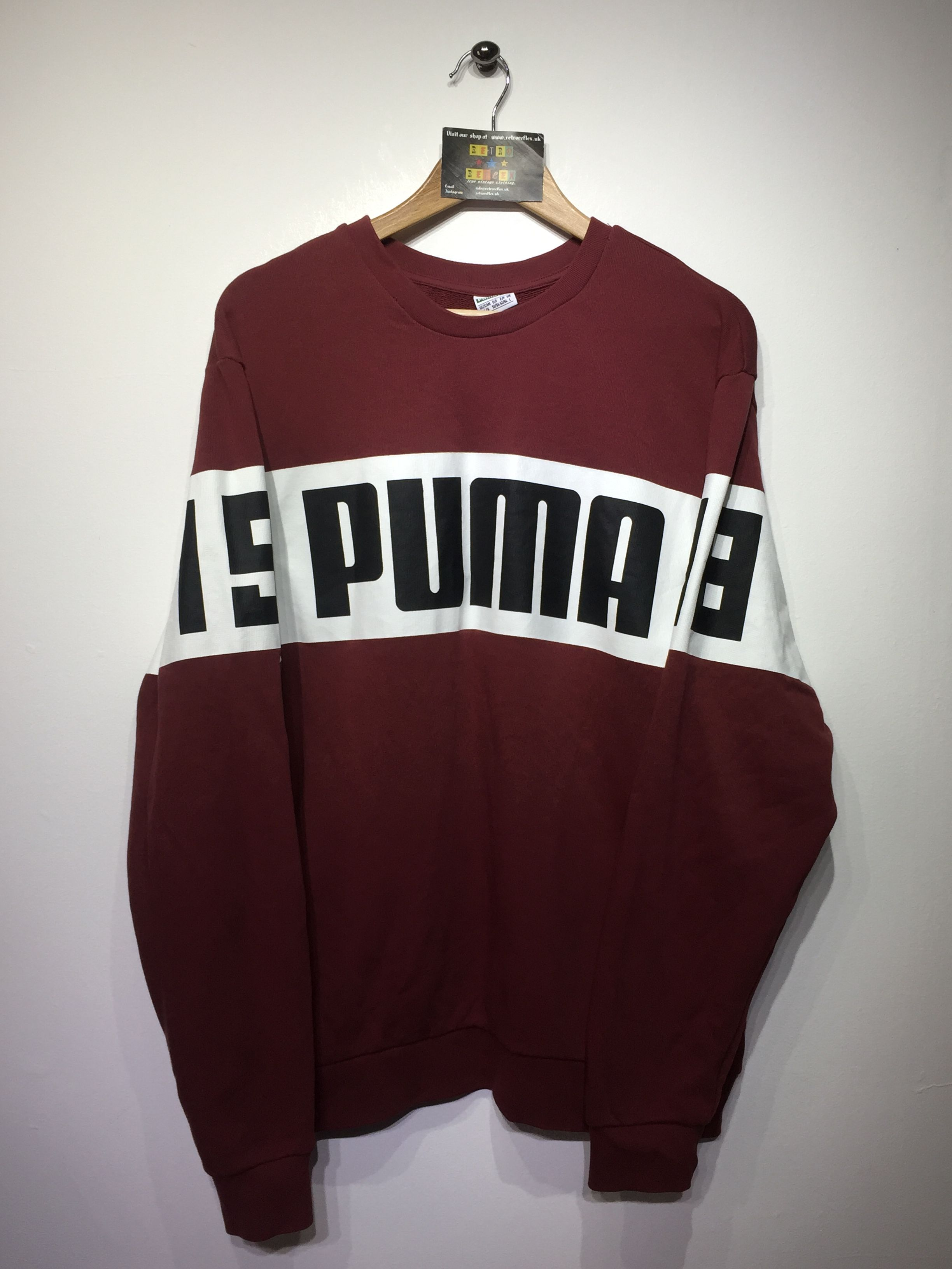 39e8436e069558 ... retro clothing. Puma Sweatshirt size Large (but Fits Oversized) £22  Website➡ www.