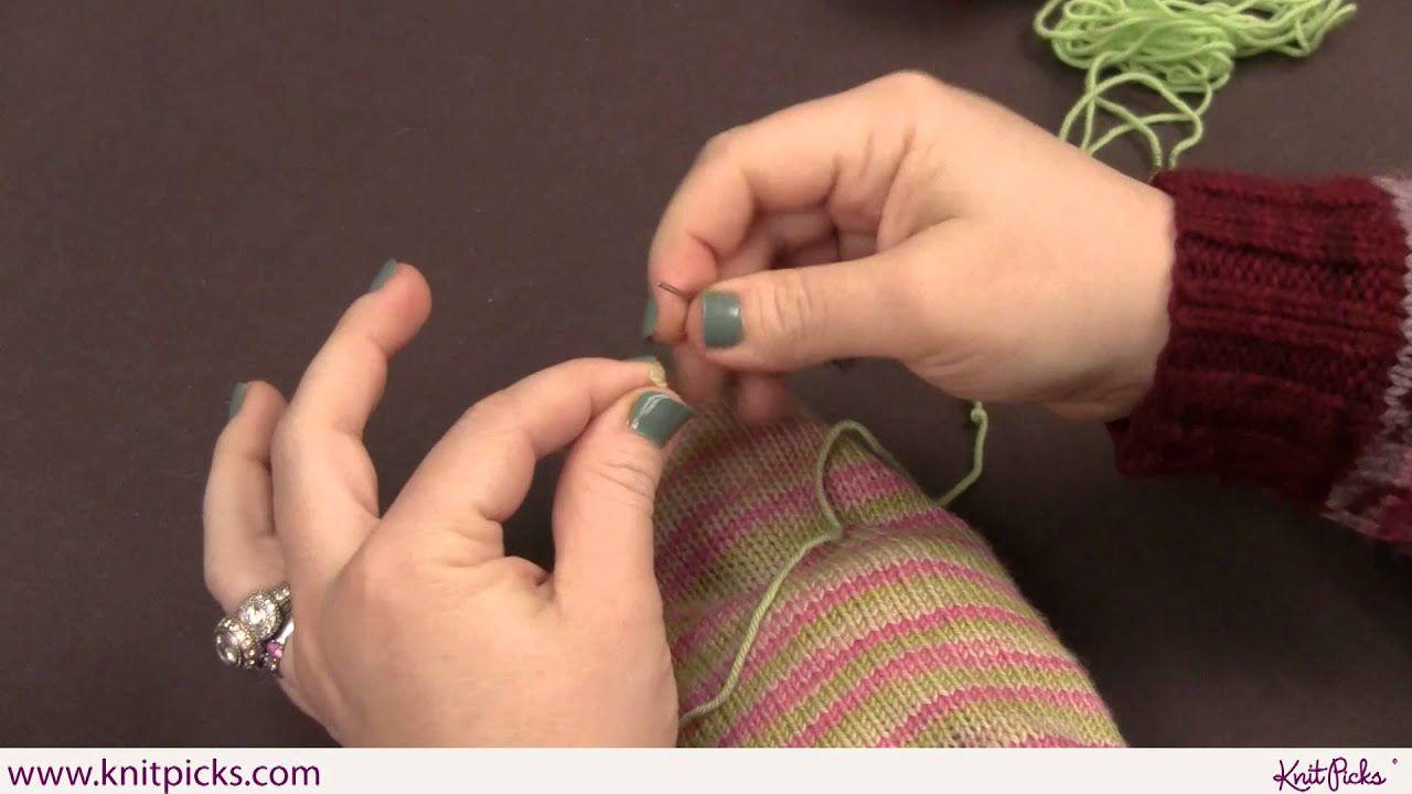Sock Darning Part 1 Duplicate Stitch in 2020 Sock