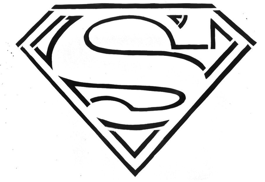 Superman Logo Stencil Template