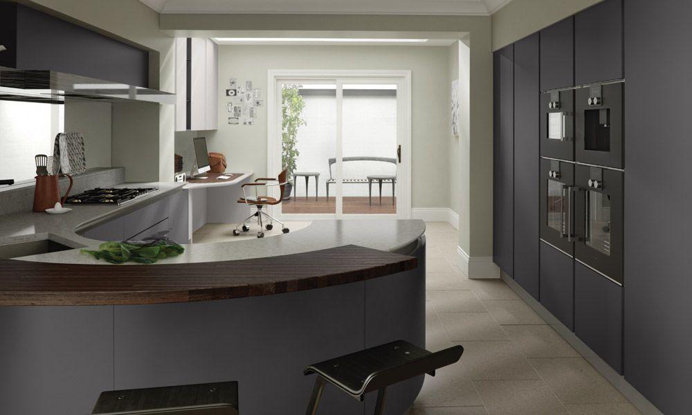 Best Door Finishes Shown Graphite Matt Handleless Dove 400 x 300