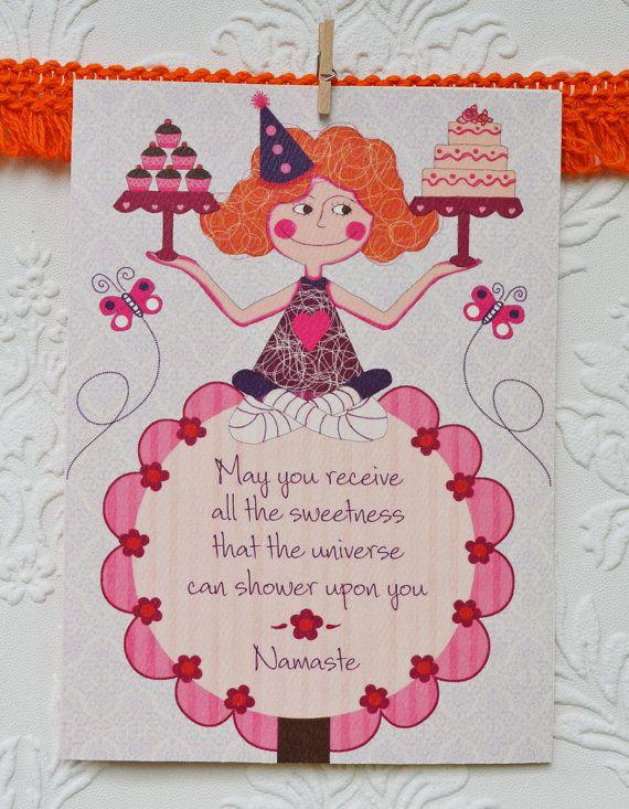 Yoga Birthday Cardyoga Cardsbirthday Cards 5 X 7 Birthday