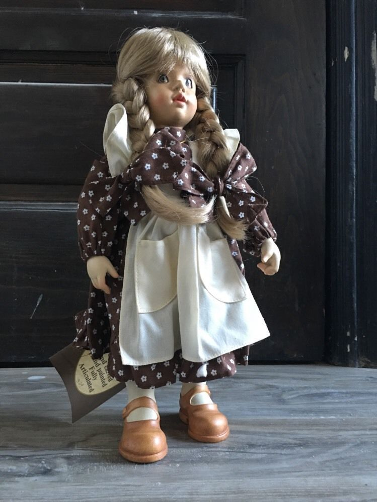 """Anri Sarah Kay """"Helen"""" Hand Carved Painted Hinged Wooden Doll Italy 14""""   eBay"""