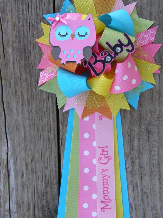Full Owl Corsage Baby Shower Mum For That Very Special Occasion