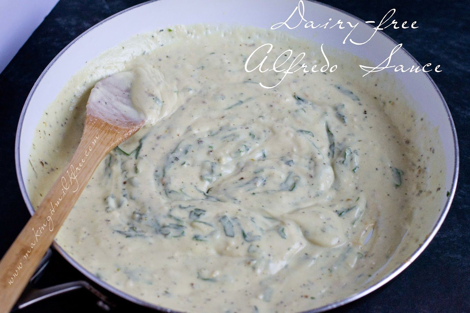 Dairy-free Alfredo Sauce by Making it Milk-free