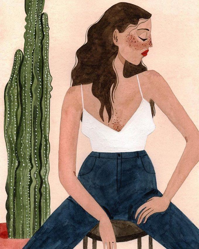 Colorful Portraits by Brunna Mancuso Illustration by Brunna Mancuso